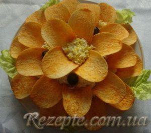 Салат рыбный Цветок