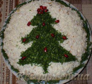 Салат с говядиной Новогодняя Ёлка