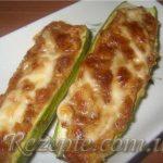 Фаршированные кабачки с сыром