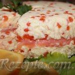 Французский террин из маскарпоне с лососем