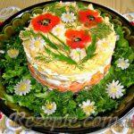 Салат с курицей, корейской морковью и апельсинами
