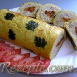 Кабачково-сырный рулет с мясом