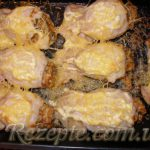 Кальмары запеченные с сыром