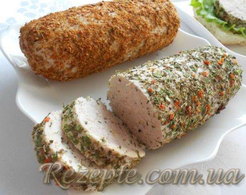 Куриная колбаса (суфле)