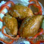 Куриные кармашки с грибами
