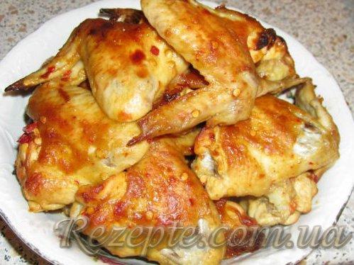 Куриные крылышки в медово-горчичном маринаде
