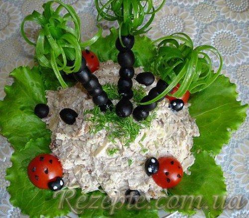 Салат с мясом Пальмочки