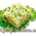 Салат с рыбой слоеный