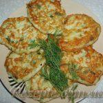 Оладьи картофельно-куриные