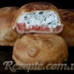 "Пирожки ""Бомбочки"" с помидором и сыром"