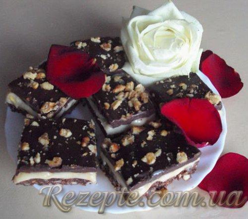 Пирожное с тоффи и шоколадом