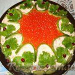 Салат слоеный Рыбное удовольствие