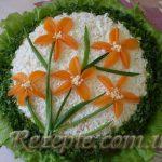 Салат с мясом и грибами