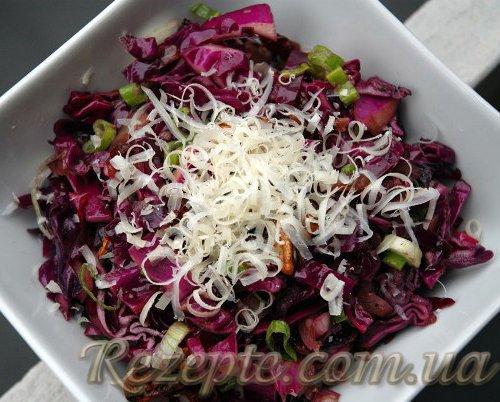 Салат из краснокочанной капусты с жгучим перцем