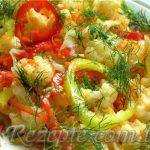Салат с фасолью острый