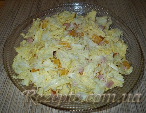 Салат с апельсинами без майонеза