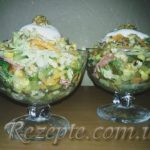Салат с колбасой МОДНИЦА