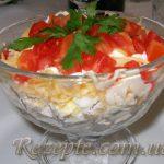 Салат с курицей и помидорами БАХОР