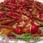 Салат с курицей и хурмой