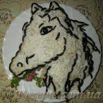 """Салат с курицей """"Лошадь"""""""