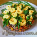 Салат с печенью и грибами ОБЖОРКА