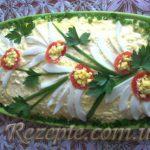 Салат с сердцем и грибами ПАВЛИН