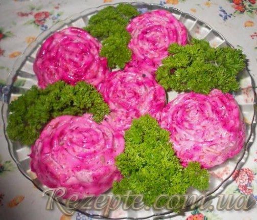 Салат сельдь под шубой с желатином