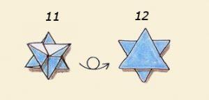 Салфетка Звезды Давида шаги 11,12