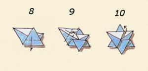 Салфетка Звезды Давида шаги 8,9,10