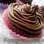 Шоколадные кексы с сырным кремом