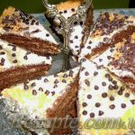 Шоколадно-медовый бисквит с йогуртовым кремом