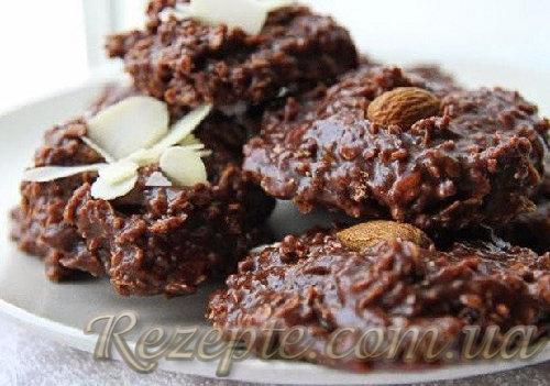 Шоколадное печенье без выпечки
