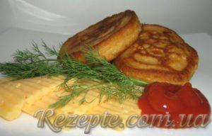 Сырные оладьи
