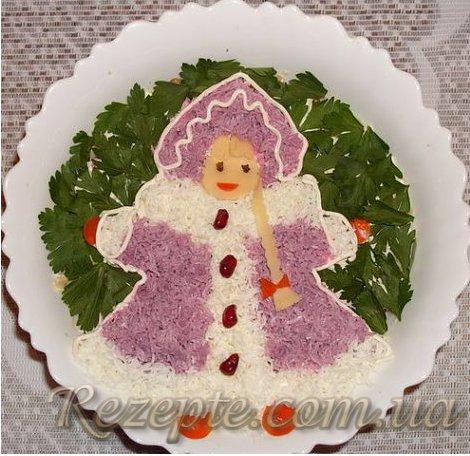 Салат с мясом Снегурочка