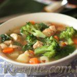 Суп овощной с капустой брокколи