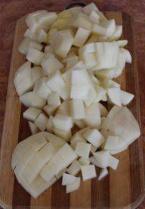 Hарезанный картофель для супа