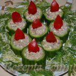 Закуска с огурцами и шпротами новогодние свечки
