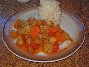 Тофу в кисло-сладком соусе