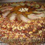 Торт БИСКВИТНО-ШОКОЛАДНЫЙ с персиками и абрикосами
