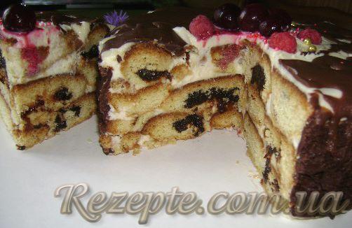 """Торт с черносливом """"Пикантный"""""""