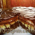 Торт-суфле в шоколадной глазури