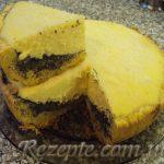 Творожный пирог с маком в мультиварке