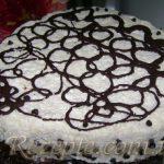 Творожный торт-суфле с шоколадом и виноградом