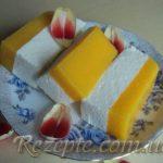 Творожно-персиковый десерт
