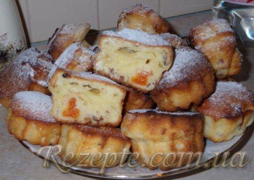 Творожные кексы с курагой и орехами