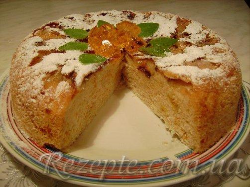 Яблочно-апельсиновая Шарлотка в мультиварке
