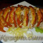 Запеченное мясо с помидорами и сыром Гармошка