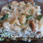 Рыба запеченая с овощами и сыром
