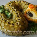 Салат с горбушей Змея