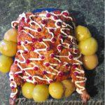 Курица фаршированная блинами
